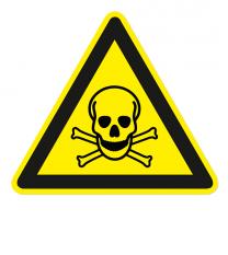 Warnzeichen Warnung vor giftigen Stoffen nach DIN EN ISO 7010 - W 016