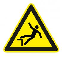 Warnzeichen Warnung vor Absturzgefahr nach DIN EN ISO 7010 - W 008
