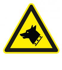 Warnzeichen Warnung vor Wachhunden nach DIN EN ISO 7010 - W 011