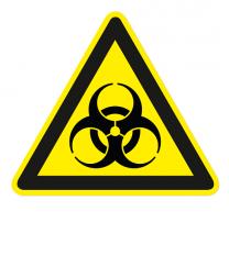 Warnzeichen Warnung vor Biogefährdung nach DIN EN ISO 7010 - W 009