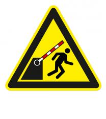 Warnzeichen Warnung vor der Schranke