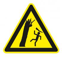 Warnzeichen Warnung vor herabfallenden Ästen