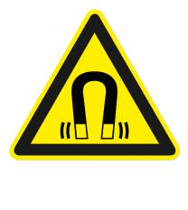 Warnzeichen Warnung vor magnetischem Feld nach DIN EN ISO 7010 - W 006