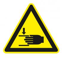Warnzeichen Warnung vor Handverletzungen nach DIN EN ISO 7010 - W 024