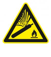Warnzeichen Warnung vor Gasflaschen nach DIN EN ISO 7010 - W 029