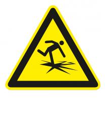 Warnzeichen Warnung vor dünnem Eis nach DIN ISO 20712-1 - WSW 001