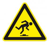 Warnzeichen Warnung vor Hindernissen / Stolpergefahr