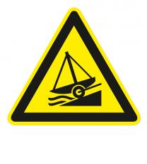 Warnzeichen Warnung vor Slipanlage nach DIN ISO 20712-1 - WSW 002