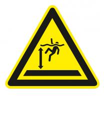 Warnzeichen Warnung vor tiefem Wasser nach DIN ISO 20712-1 - WSW 005