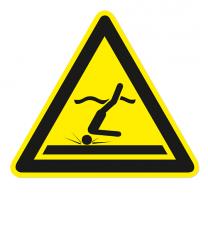Warnzeichen Warnung vor flachem Wasser / Kopfsprung nach DIN ISO 20712-1 - WSW 006