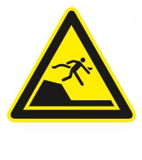 Warnzeichen Warnung vor unvermittelter Tiefenänderung nach DIN ISO 20712-1 - WSW 008