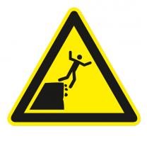 Warnzeichen Warnung vor instabiler Kante nach DIN ISO 20712-1 - WSW 010