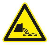 Warnzeichen Warnung vor Abwasserleitung nach DIN ISO 20712-1 - WSW 013