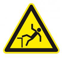 Warnzeichen Warnung vor Absturzgefahr