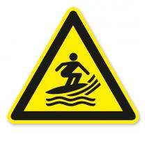 Warnzeichen Warnung vor Surfern nach DIN ISO 20712-1 - WSW 004