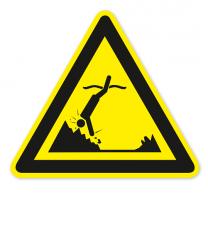 Warnzeichen Warnung vor Objekten im Wasser nach DIN ISO 20712-1 - WSW 007