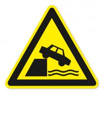 Warnzeichen Warnung vor ungeschützten Kanten nach DIN ISO 20712-1 - WSW 009