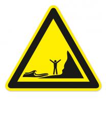 Warnzeichen Warnung vor ankommenden Gezeiten nach DIN ISO 20712-1 - WSW 018