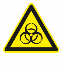 Warnzeichen Warnung vor Biogefährdung