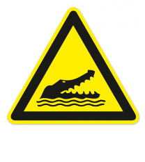 Warnzeichen Warnung vor Alligatoren nach DIN ISO 20712-1 - WSW 025