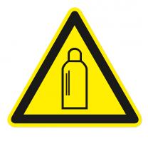 Warnzeichen Warnung vor Gasflaschen
