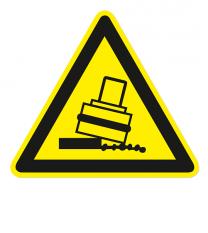Warnzeichen Warnung vor Kippgefahr beim Walzen