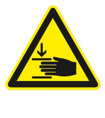 Warnzeichen Warnung vor Handverletzungen