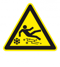 Warnzeichen Warnung vor Eisrutschgefahr