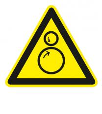Warnzeichen Warnung vor Einzugsgefahr