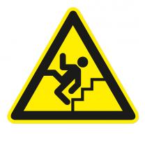 Warnzeichen Warnung vor Treppen