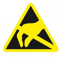 Warnzeichen Elektrostatisch gefährdete Bauelemente