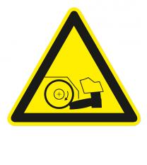 Warnzeichen Warnung vor Fußverletzungen