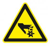 Warnzeichen Warnung vor rotierendem Werkzeug