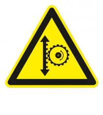 Warnzeichen Warnung vor Höhenverstellung