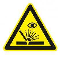 Warnzeichen Warnung vor Schweißfunken