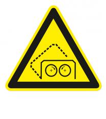 Warnzeichen Warnung vor automatisch schließender Haube
