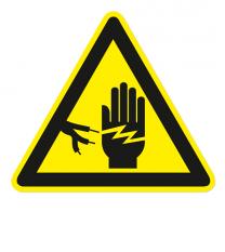 Warnzeichen Warnung vor gefährlicher elektrischer Spannung 2