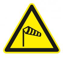 Warnzeichen Warnung vor starker Windströmung