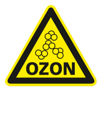 Warnzeichen Warnung vor Ozon