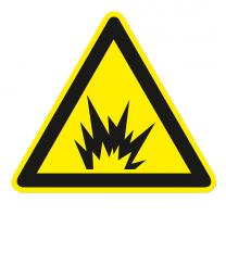 Warnzeichen Warnung vor Explosion