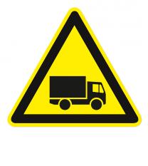 Warnzeichen Warnung vor Fahrzeugverkehr