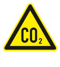 Warnzeichen Warnung vor CO2-Erstickungsgefahr