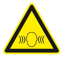 Warnzeichen Warnung vor Lärm mit hohem Schalldruckpegel