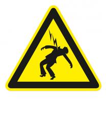 Warnzeichen Warnung vor Hochspannung - Lebensgefahr