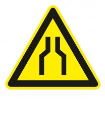 Warnzeichen Warnung vor Engstellen