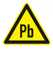 Warnzeichen Warnung vor Blei