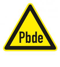 Warnzeichen Warnung Polybromierte Diphenylether