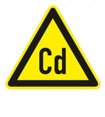 Warnzeichen Warnung vor Cadmium