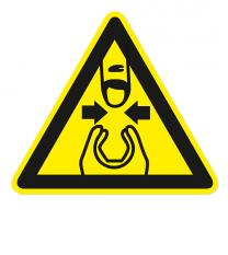 Warnzeichen Warnung vor Fingerquetschung