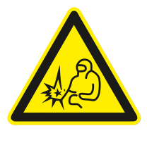 Warnzeichen Warnung vor dem Lichtbogen